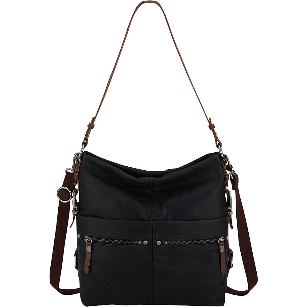 The Sak Sanibel Bucket Black The Sak Leather Handbags