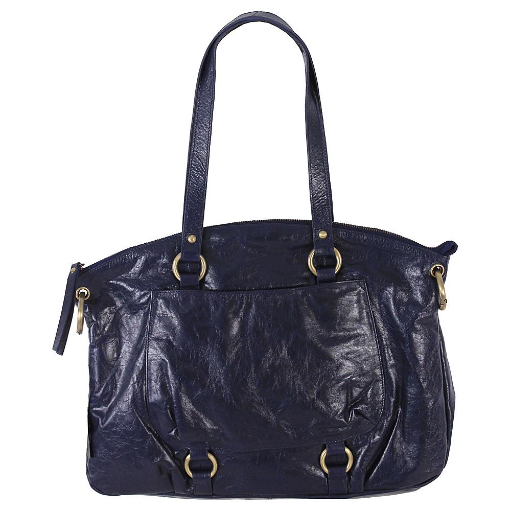Latico Leathers Yvette Tote Navy - Latico Leathers Leather Handbags - Handbags, Leather Handbags