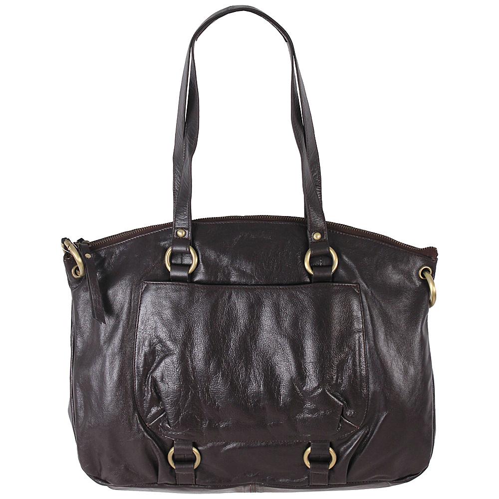 Latico Leathers Yvette Tote Espresso Latico Leathers Leather Handbags