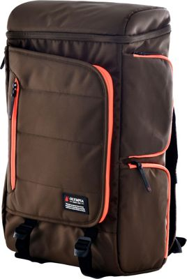 Olympia USA Einstein 20 inch Backpack Chocolate Brown - Olympia USA Everyday Backpacks
