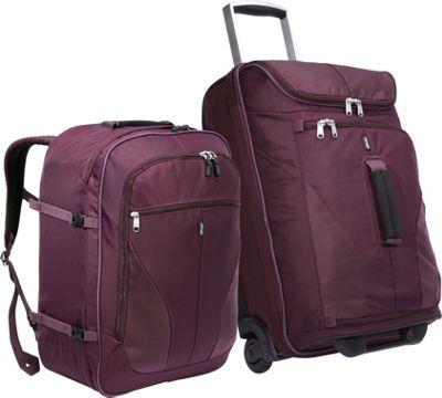 eBags Value Set: eTech 2.0 Mini 21 inch + eTech 2.0 Weekender Jr Plum - eBags Luggage Sets