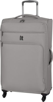 it luggage MegaLite Luggage Collection 31.3 inch Spinner- eBags Exclusive Flint Gray - it luggage Softside Checked