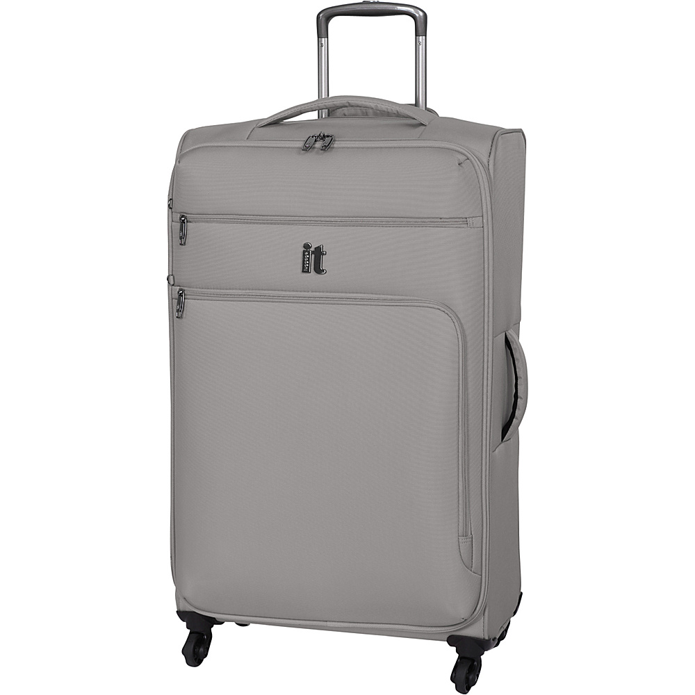 it luggage MegaLite Luggage Collection 31.3 Spinner eBags Exclusive Flint Gray it luggage Softside Checked