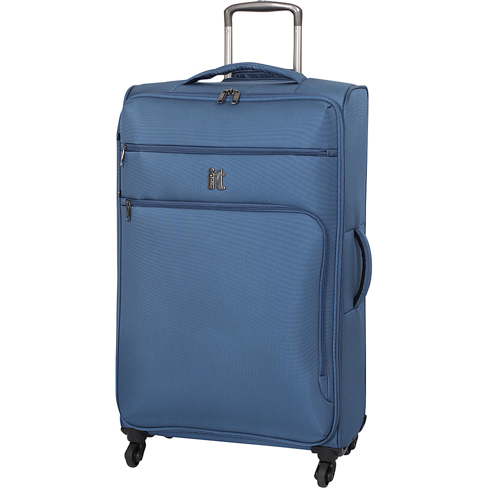 it luggage MegaLite Luggage Collection 31.3 Spinner eBags Exclusive Blue Ashes it luggage Softside Checked