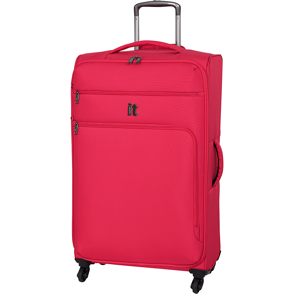 it luggage MegaLite Luggage Collection 31.3 Spinner eBags Exclusive Fiery Red it luggage Softside Checked