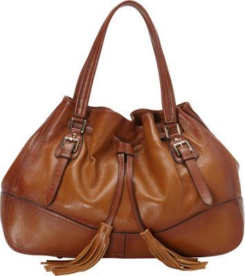 Vicenzo Leather Madonna Italian Leather Handbag Brown - Vicenzo Leather Leather Handbags