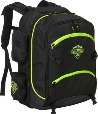 Sportube Overheader Gear and Boot Backpack Green/Black - Sportube Ski and Snowboard Bags