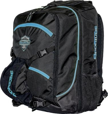 Sportube Overheader Gear and Boot Backpack Black/Blue - Sportube Ski and Snowboard Bags