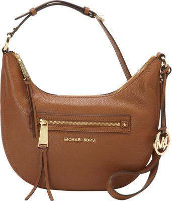 MICHAEL Michael Kors Rhea Zip Small Messenger Luggage - MICHAEL Michael Kors Designer Handbags
