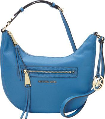 MICHAEL Michael Kors Rhea Zip Small Messenger Heritage Blue - MICHAEL Michael Kors Designer Handbags