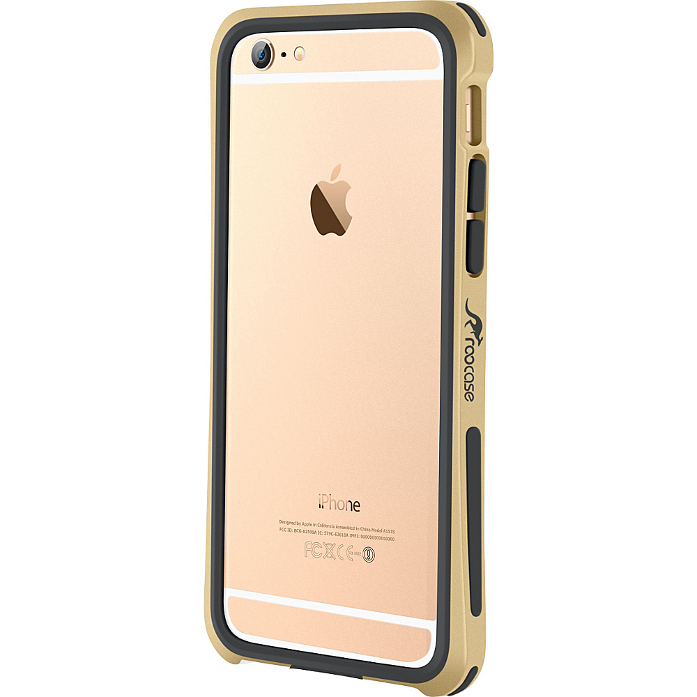 rooCASE Ultra Slim Fit Linear Bumper Case Cover for iPhone 6 6s 4.7 Fossil Gold rooCASE Electronic Cases