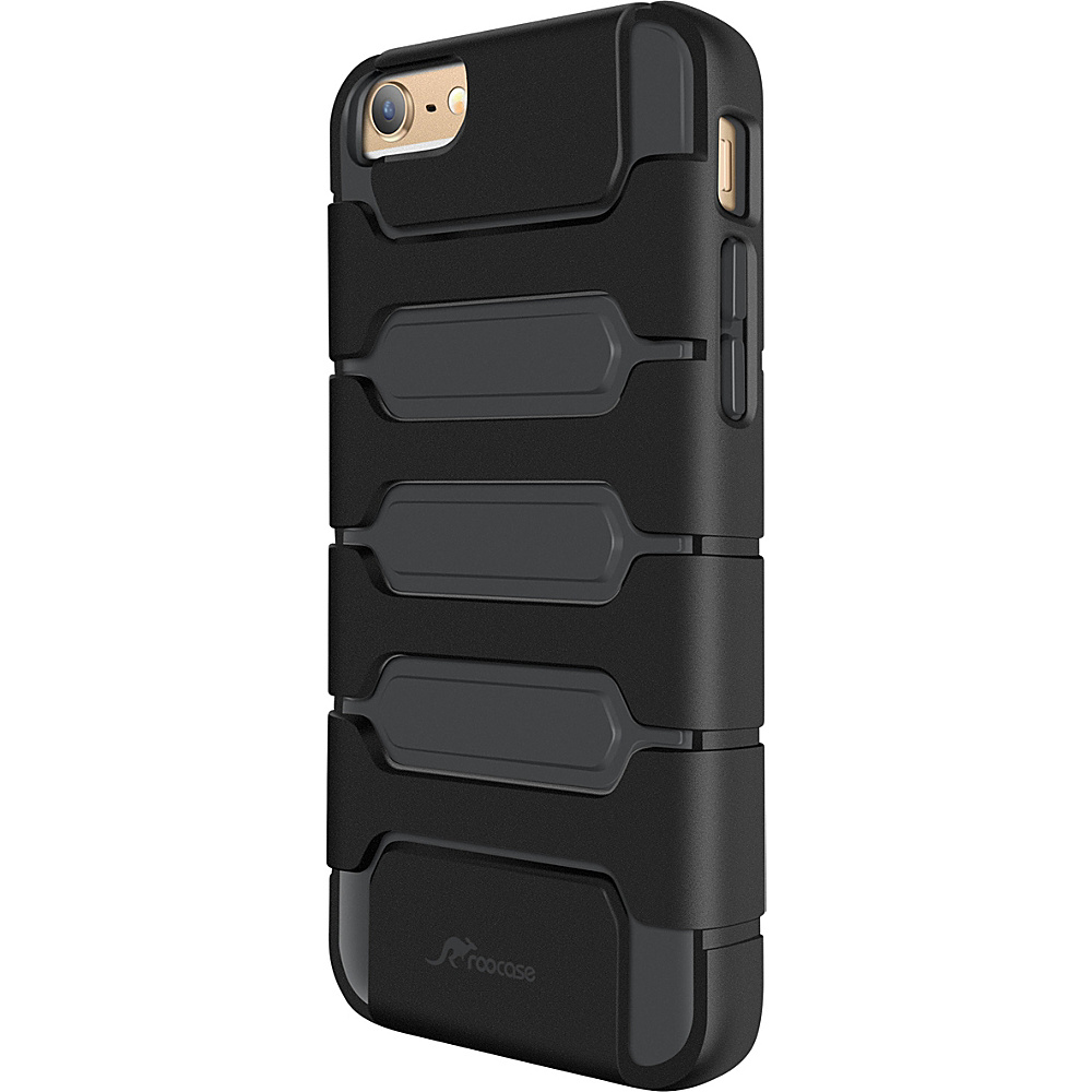 rooCASE Slim Fit XENO Armor Hybrid TPU PC Case Cover for iPhone 6 6s 4.7 Black rooCASE Electronic Cases