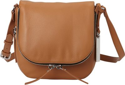 Vince Camuto Baily Crossbody Chestnut Brown/ Black/ White - Vince Camuto Designer Handbags