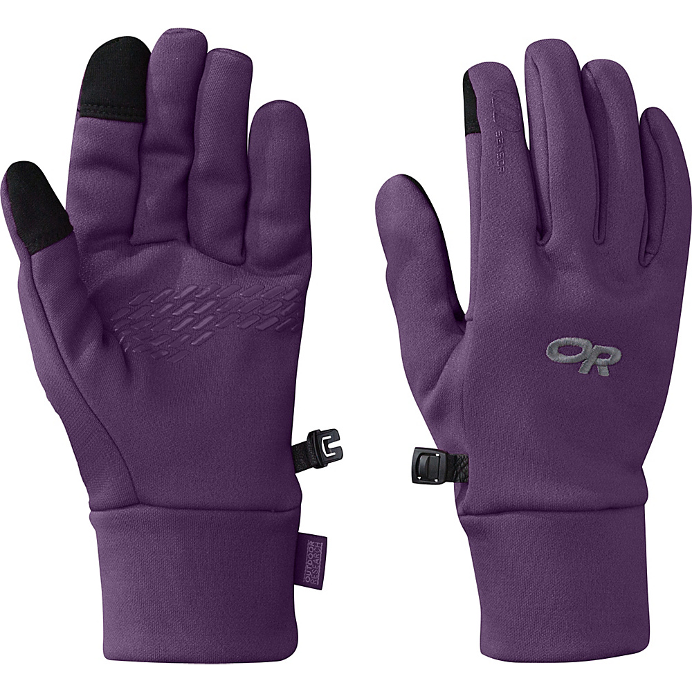 Outdoor Research PL 100 Sensor Gloves Womens M - Elderberry - Outdoor Research Hats/Gloves/Scarves - Fashion Accessories, Hats/Gloves/Scarves