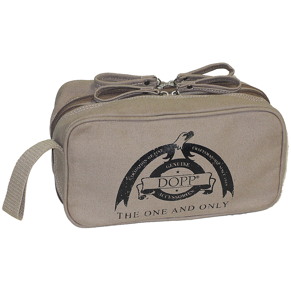 Dopp Legacy Double Zip Travel Kit Beige Dopp Toiletry Kits