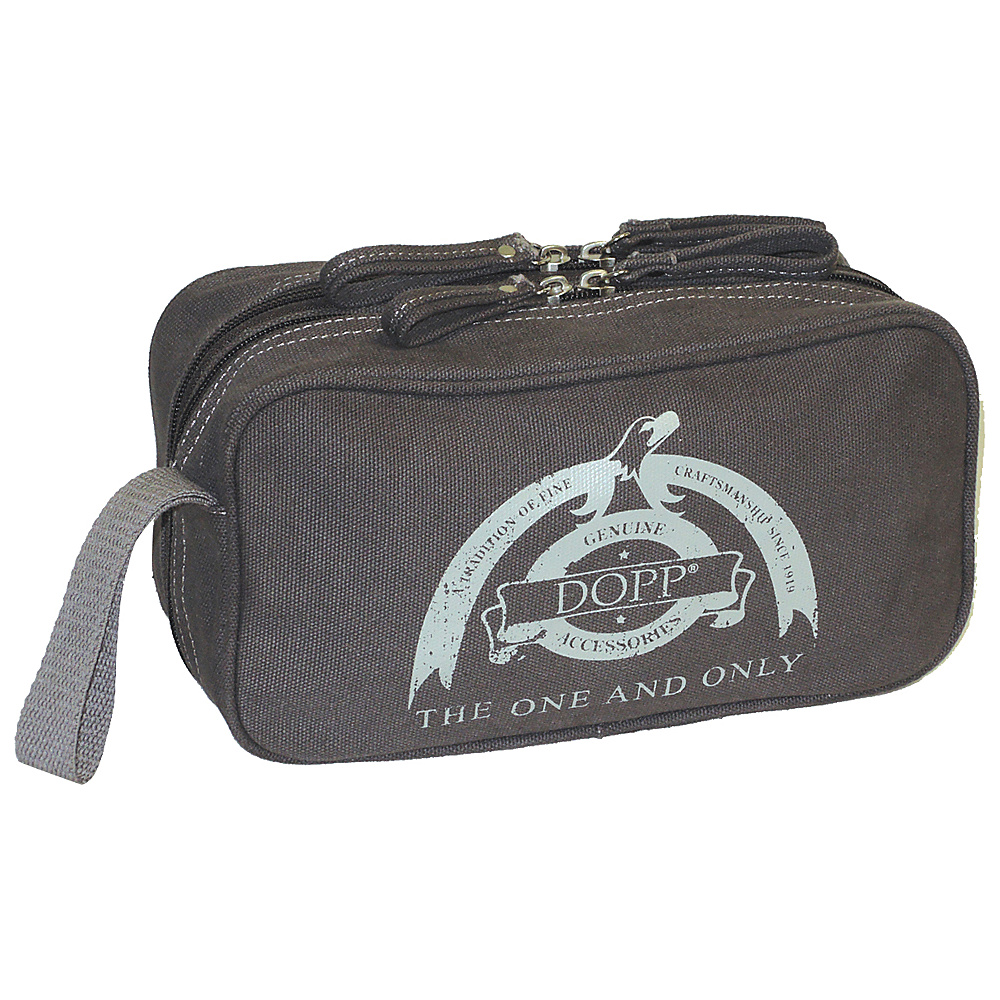 Dopp Legacy Double Zip Travel Kit Grey Dopp Toiletry Kits