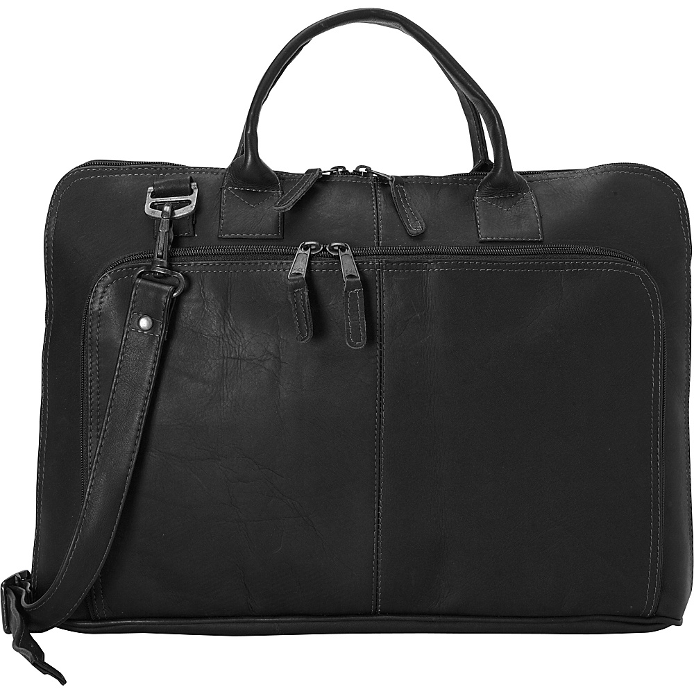 Latico Leathers Shoo Slim Top Zip Brief Black - Latico Leathers Non-Wheeled Business Cases - Work Bags & Briefcases, Non-Wheeled Business Cases