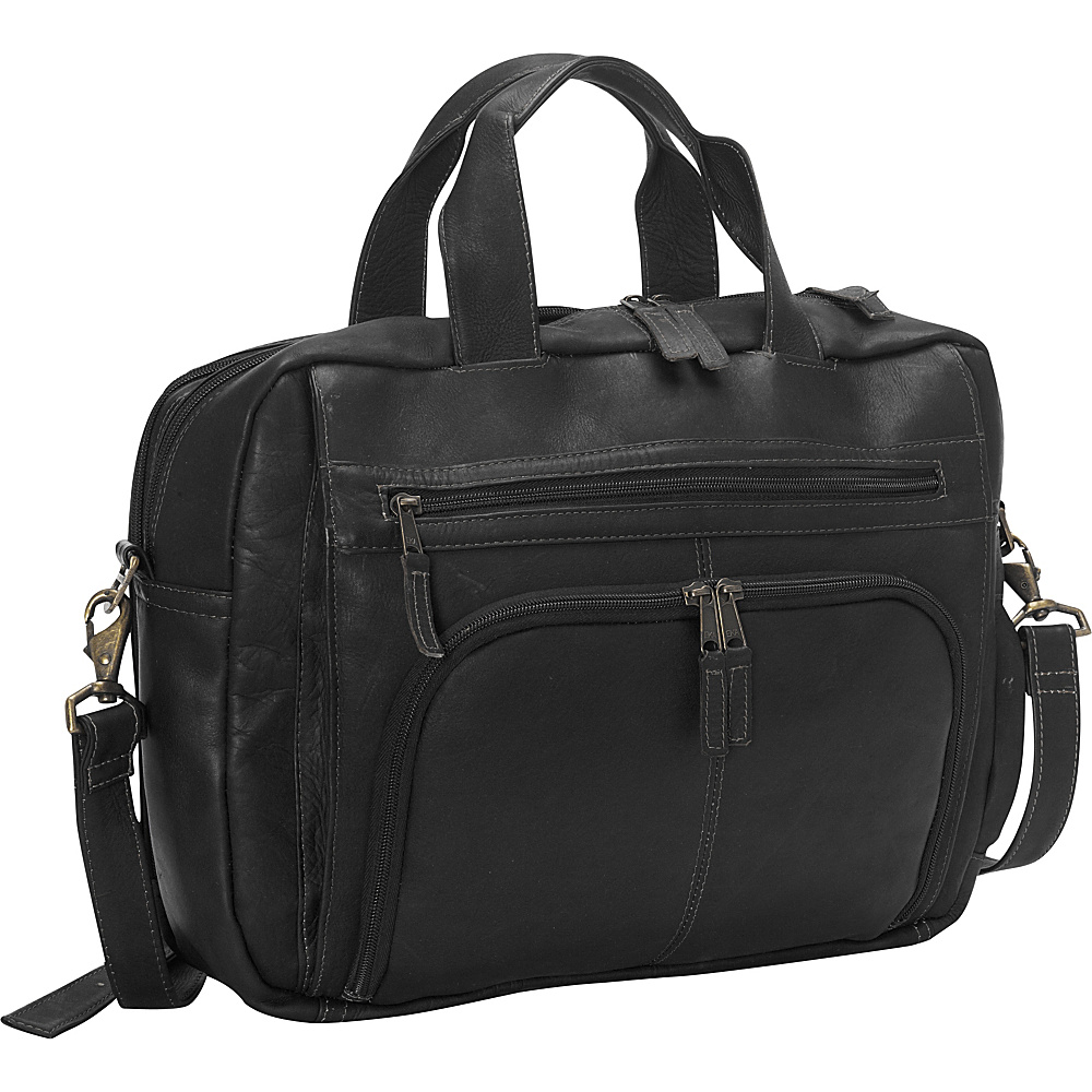 Latico Leathers Sonoma Laptop Brief Black - Latico Leathers Non-Wheeled Business Cases - Work Bags & Briefcases, Non-Wheeled Business Cases