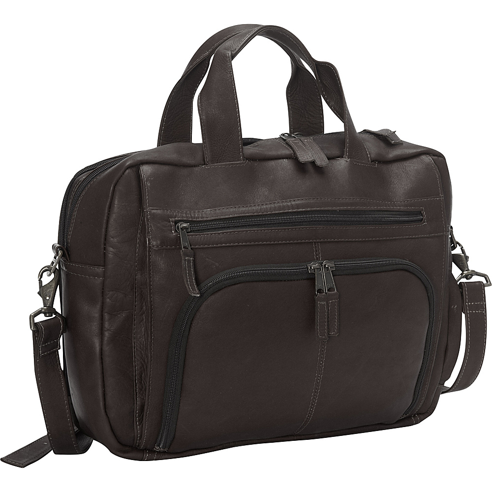 Latico Leathers Sonoma Laptop Brief Café - Latico Leathers Non-Wheeled Business Cases - Work Bags & Briefcases, Non-Wheeled Business Cases