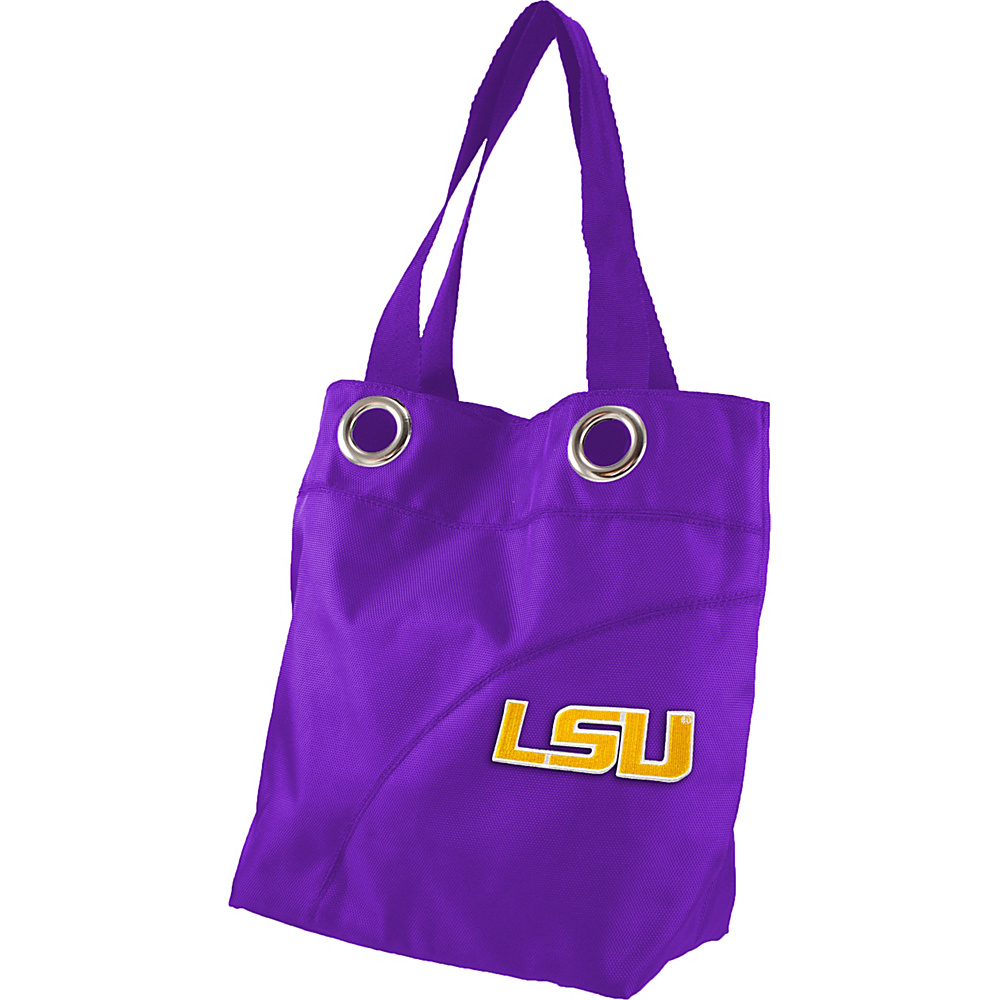 Littlearth Color Sheen Tote - SEC Teams Louisiana State University - Littlearth Fabric Handbags - Handbags, Fabric Handbags