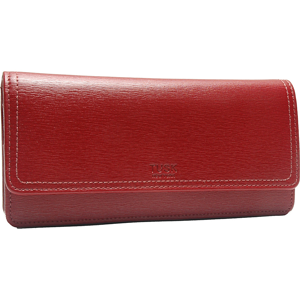 TUSK LTD Madison Gusseted Clutch Wallet Red TUSK LTD Women s Wallets