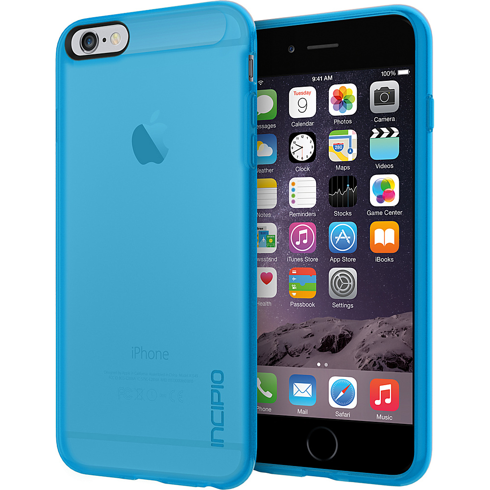 Incipio NGP for iPhone 6 6s Plus Case Translucent Blue Incipio Electronic Cases