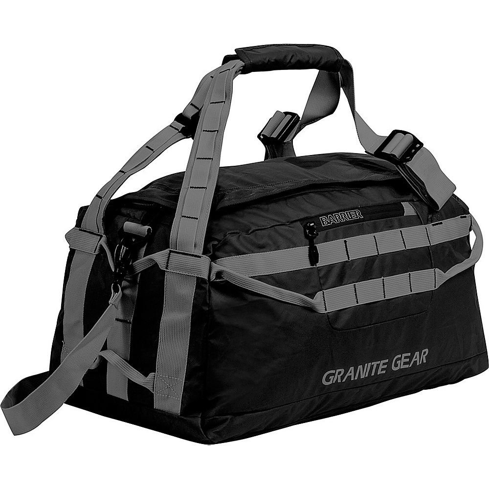 "Granite Gear 20"" Packable Duffel Black/Flint - Granite Gear Lightweight packable expandable bags"