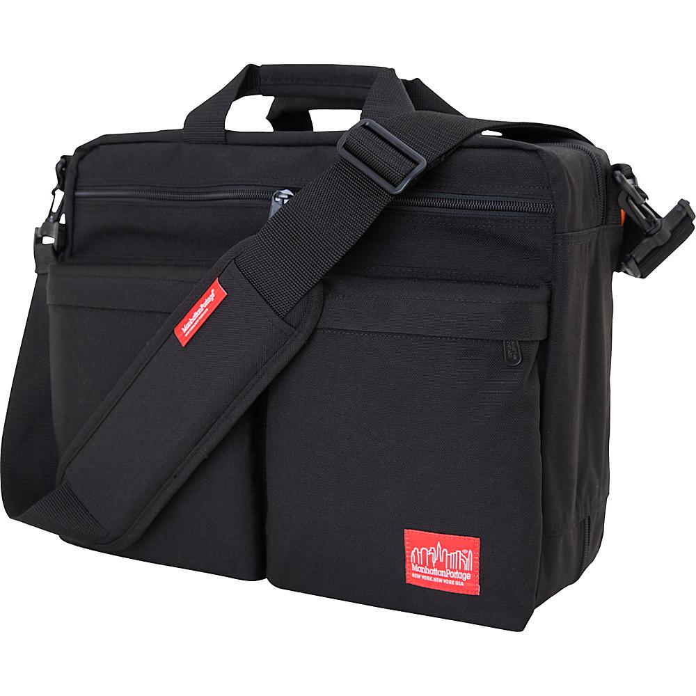 Manhattan Portage Tribeca Shoulder Bag With Back Zipper Black - Manhattan Portage Other Mens Bags - Work Bags & Briefcases, Other Men's Bags