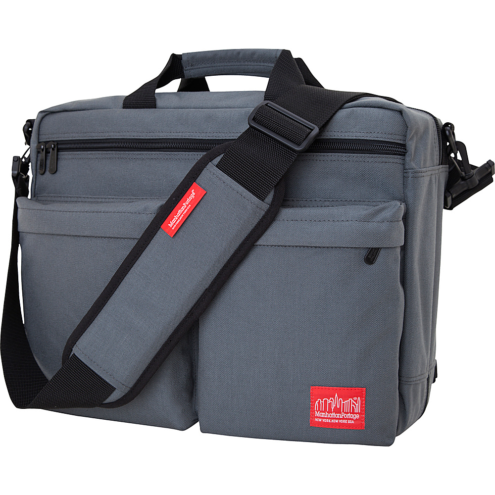 Manhattan Portage Tribeca Shoulder Bag With Back Zipper Gray - Manhattan Portage Other Mens Bags - Work Bags & Briefcases, Other Men's Bags