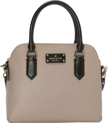 kate spade new york Grove Court Maise Satchel Warm Putty/Pebble/Black - kate spade new york Designer Handbags