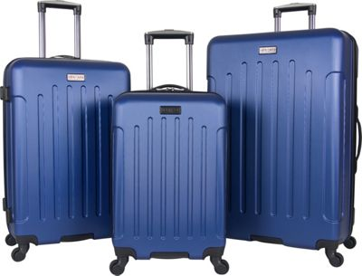 Heritage Lincoln Park 3 Piece Hardside Spinner Luggage Set Cobalt - Heritage Luggage Sets