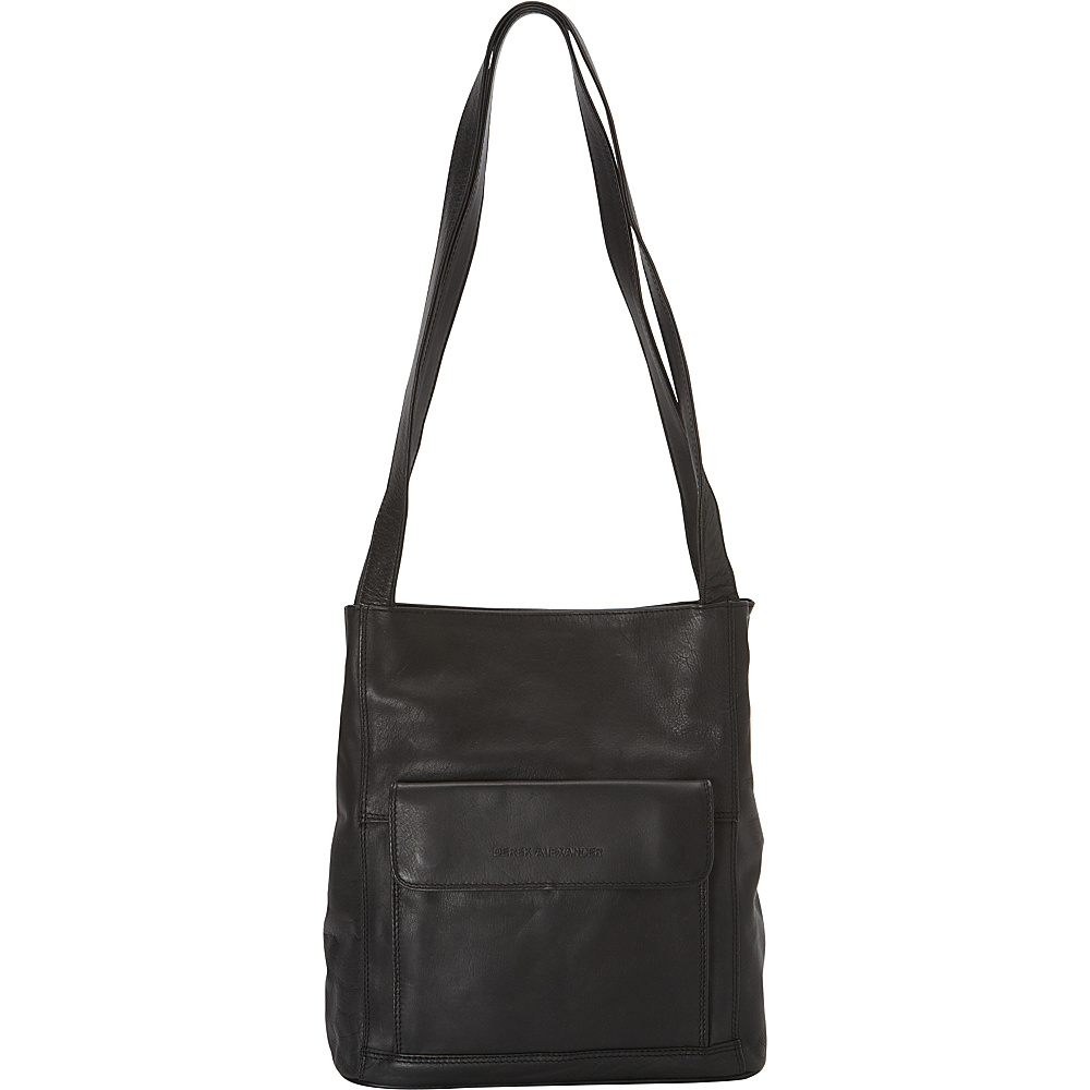 Derek Alexander Multi-Compartment NS Tote Black - Derek Alexander Leather Handbags