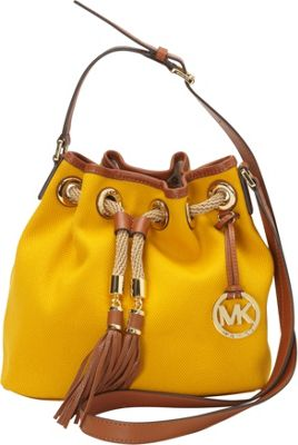 MICHAEL Michael Kors Marina Medium Messenger - Canvas Sun - MICHAEL Michael Kors Designer Handbags