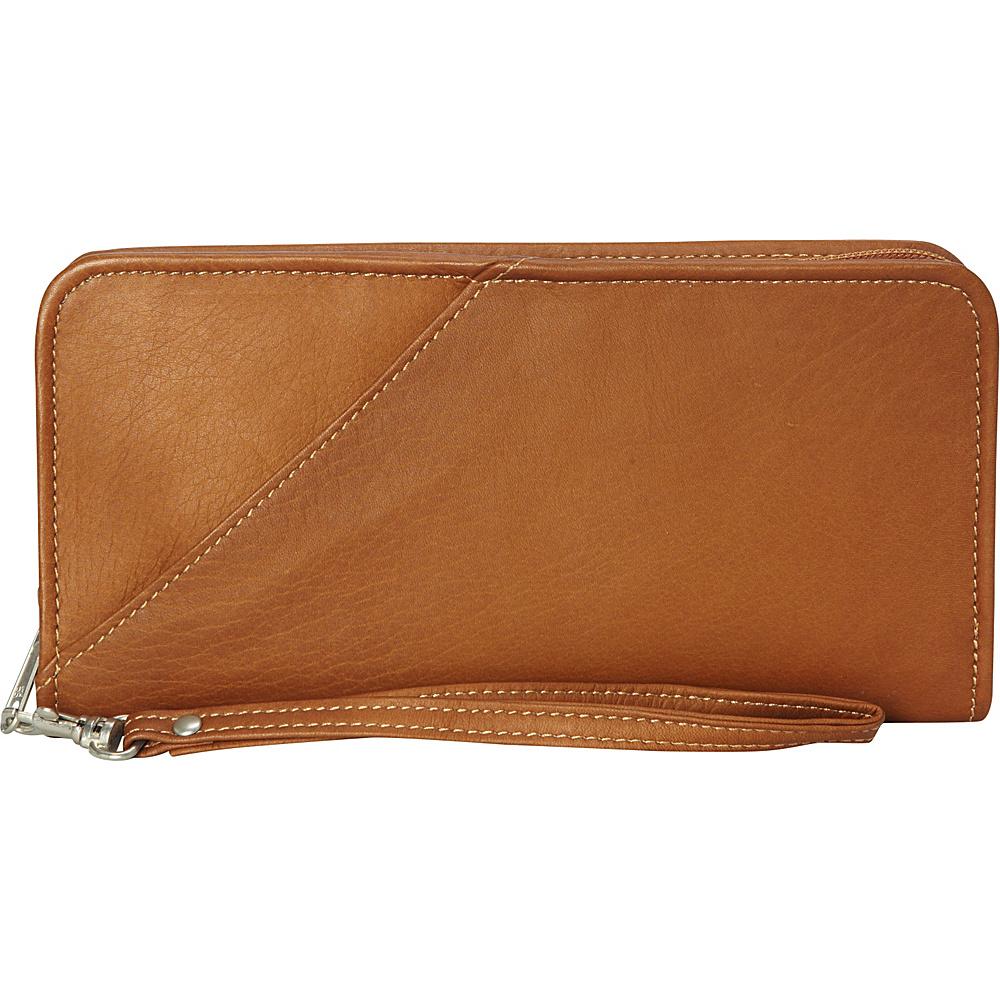 Piel Executive Travel Wallet Saddle - Piel Travel Wallets - Travel Accessories, Travel Wallets