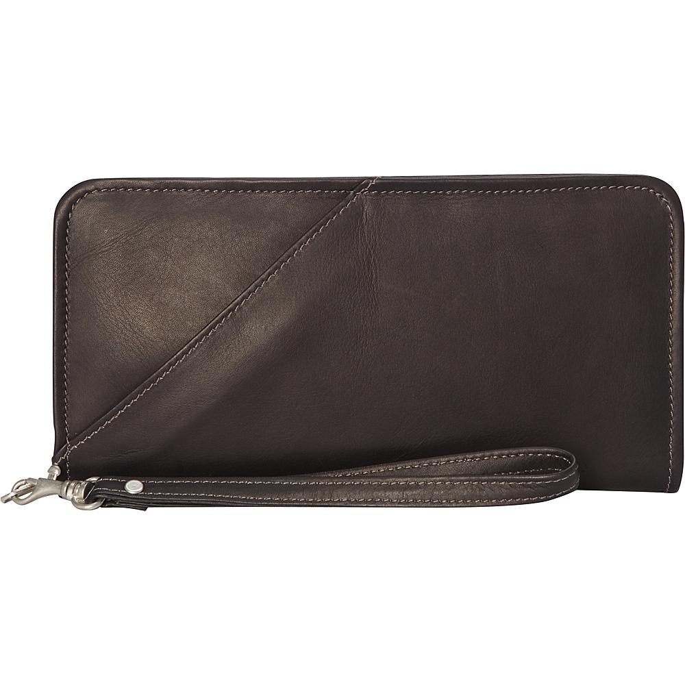 Piel Executive Travel Wallet Chocolate - Piel Travel Wallets - Travel Accessories, Travel Wallets