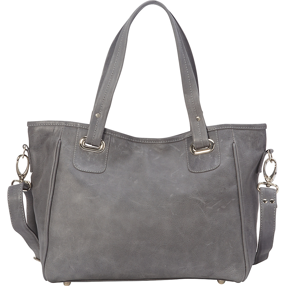 Piel Open Tote/Cross Body Bag Charcoal - Piel Leather Handbags - Handbags, Leather Handbags
