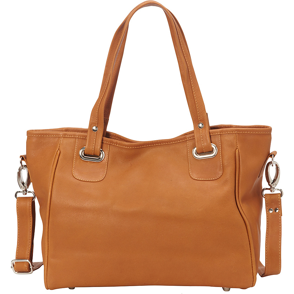 Piel Open Tote/Cross Body Bag Honey - Piel Leather Handbags - Handbags, Leather Handbags