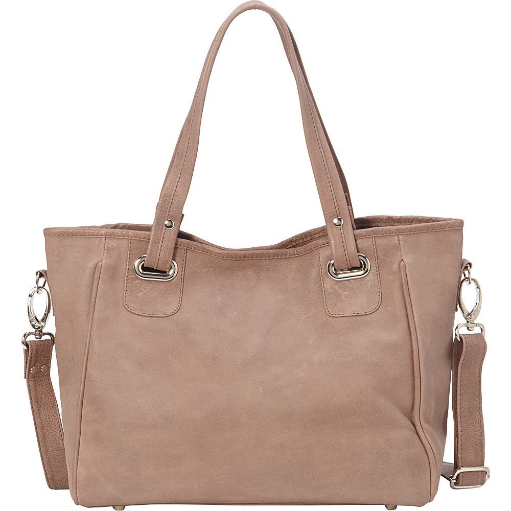 Piel Open Tote/Cross Body Bag Toffee- eBags Exclusive - Piel Leather Handbags - Handbags, Leather Handbags