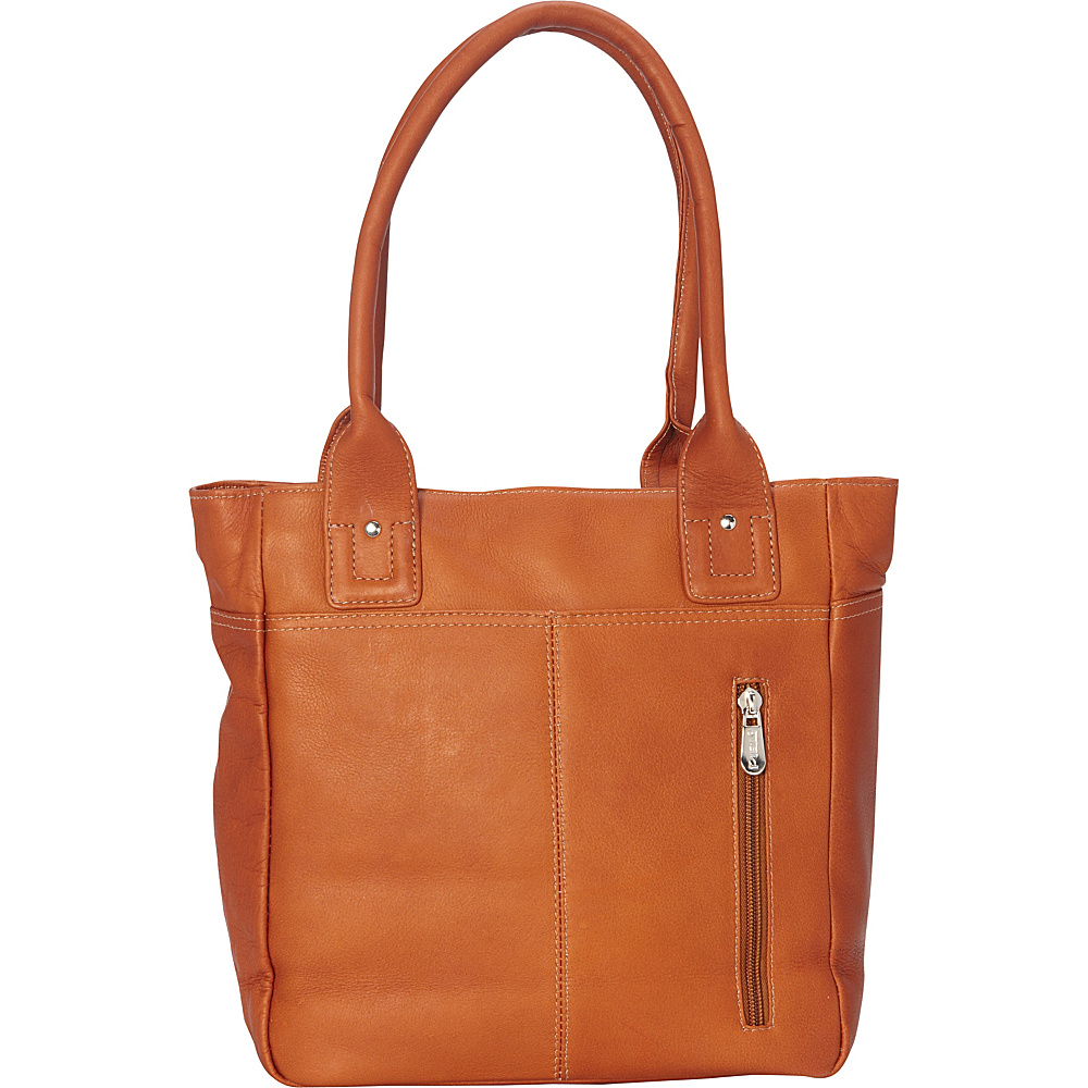 Piel Small Tablet Tote Saddle - Piel Womens Business Bags - Work Bags & Briefcases, Women's Business Bags