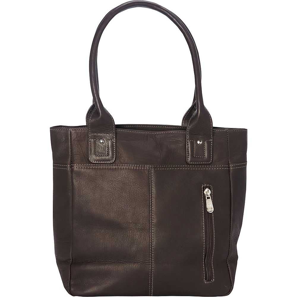 Piel Small Tablet Tote Chocolate - Piel Womens Business Bags - Work Bags & Briefcases, Women's Business Bags