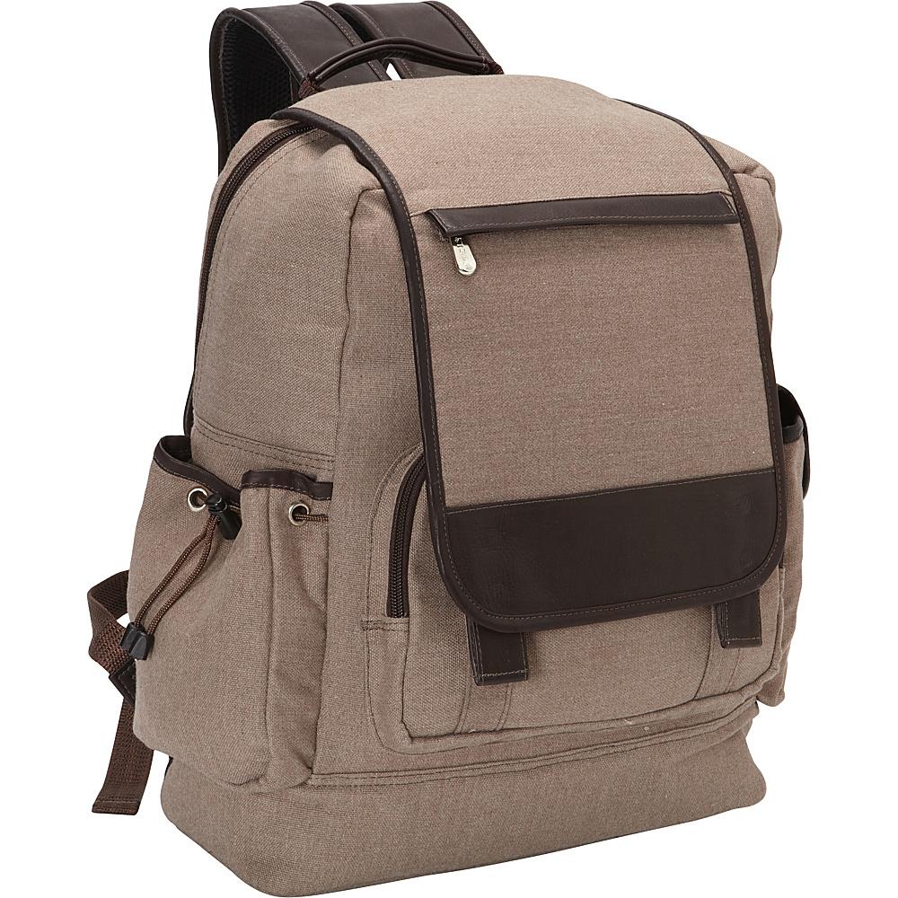 Piel Multi-Pocket Travelers Backpack Chocolate - Piel Business & Laptop Backpacks - Backpacks, Business & Laptop Backpacks