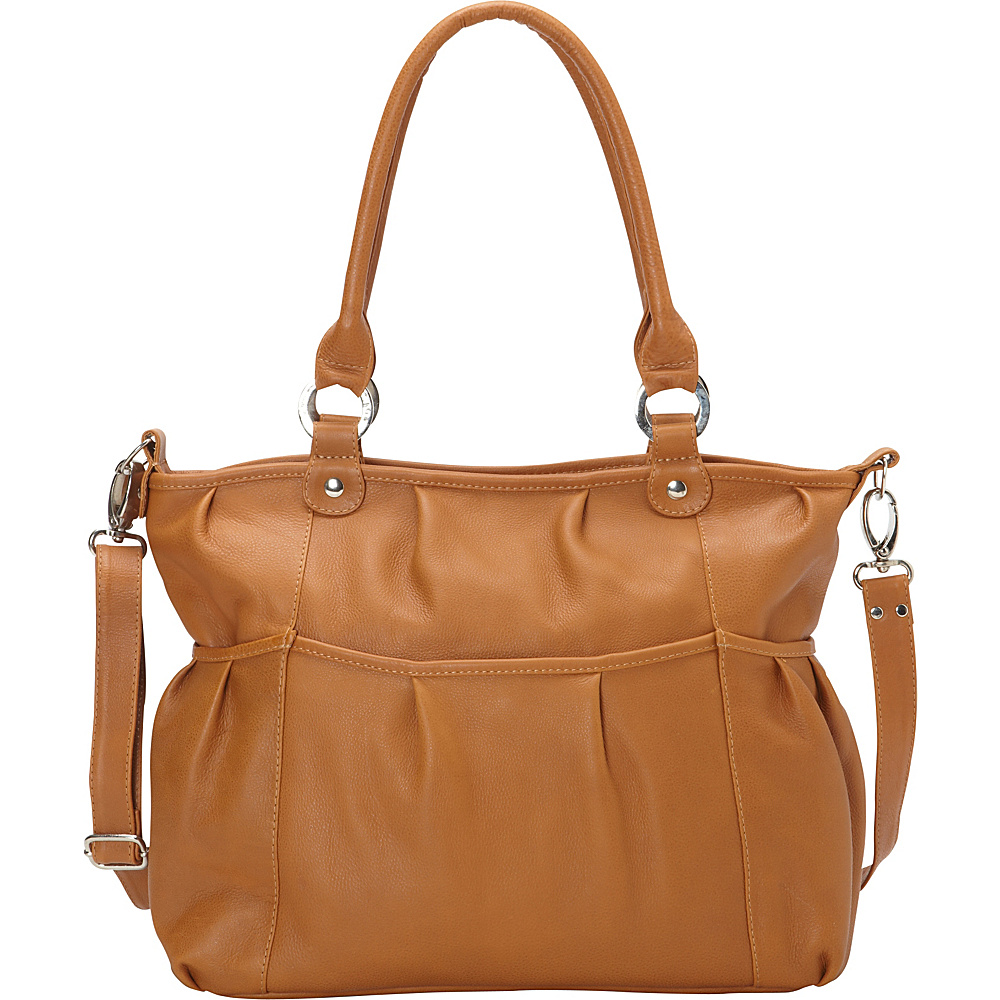Piel Zippered Crossbody Honey - Piel Leather Handbags - Handbags, Leather Handbags