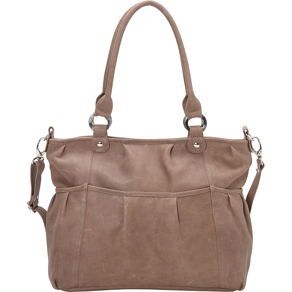 Piel Zippered Crossbody Toffee- eBags Exclusive - Piel Leather Handbags - Handbags, Leather Handbags