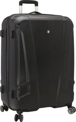 BMW Luggage 27 inch Split Case 8 Wheel Spinner Black - BMW Luggage Hardside Checked