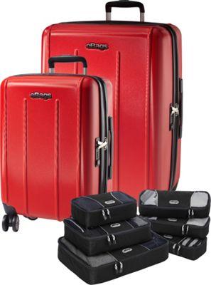 eBags Value Set: EXO 2.0 Hardside Spinner 2Pc Set + Packing Cube- 3Pc Set + Slim Packing Cube- 3Pc Set Red - eBags Luggage Sets