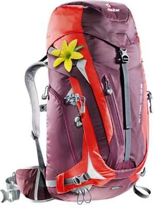 Deuter ACT Trail PRO 38 SL Hiking Backpack aubergine/fire - Deuter Backpacking Packs