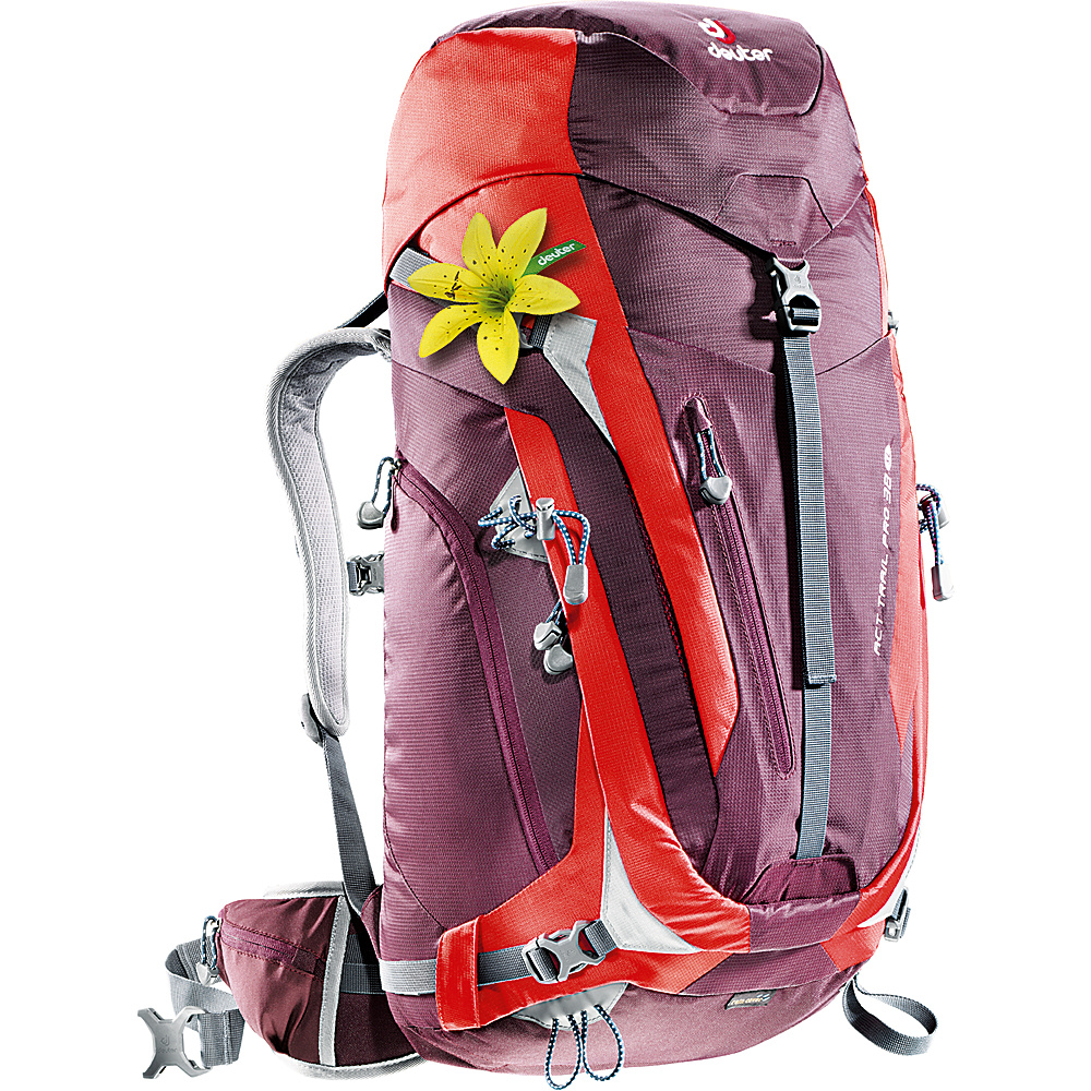 Deuter ACT Trail PRO 38 SL Hiking Backpack aubergine fire Deuter Day Hiking Backpacks