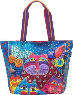 Laurel Burch Cats with Butterflies Tote Multi - Laurel Burch Fabric Handbags