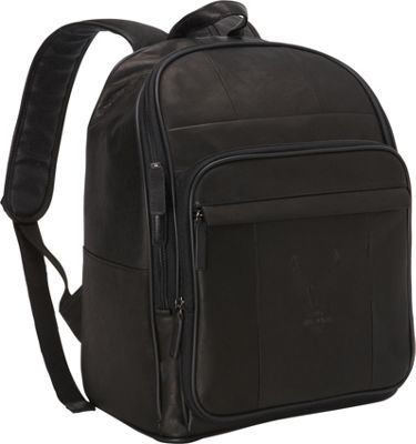 Harley Davidson by Athalon Large Leather Backpack Black - Harley Davidson by Athalon Everyday Backpacks
