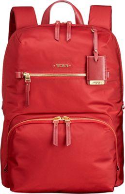 Tumi Voyageur Halle Backpack Crimson - Tumi Laptop Backpacks
